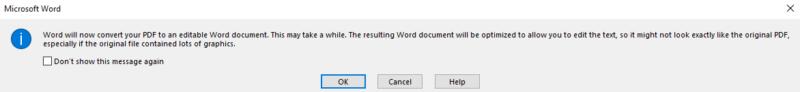 Edit a PDF in Word